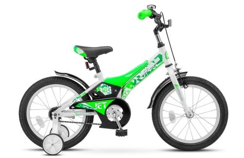 Велосипед Stels Jet, белый/салатовый, рама 16