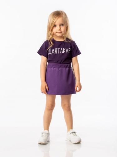 Футболка для девочки, размер 86-92, фиолетовый Bodo 4-114U