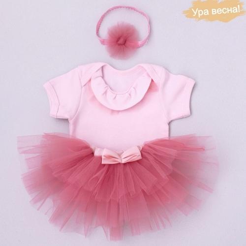 Комплект для девочки Малина весна-осень Крошкин дом р.20 (рост 62-68 см), розовый