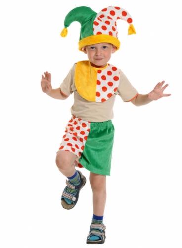 Карнавальный костюм Скоморох-2 Лайт (манишка, шорты, колпак) 3-5 лет
