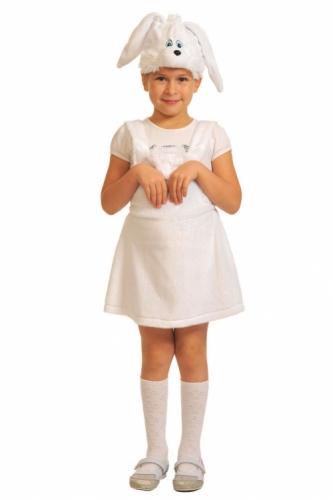 Карнавальный костюм Заинька ткань-плюш (сарафан, маска) 3-6 лет