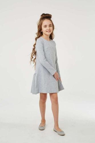 Платье для девочки размер 140, Звезды Ночной синий, УМКА