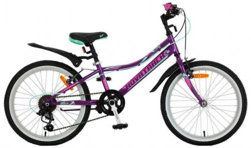 Велосипед Novatrack Alice, фиолетовый, рама 20