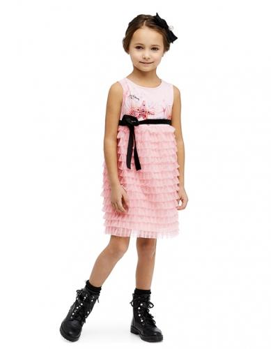 Платье для девочки, размер 7-8 (128-64) светло-розовое, Bellbimbo 190049