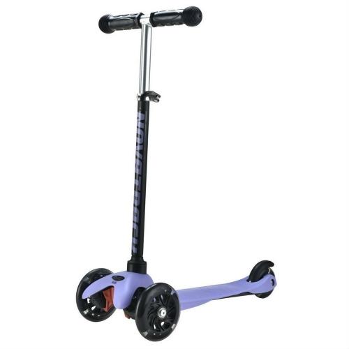 Самокат-Кикборд Novatrack Disco, черно-фиолетовый