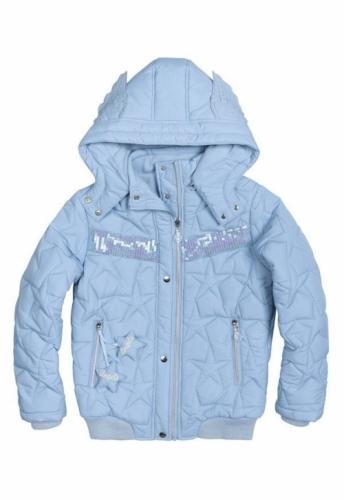 Куртка для девочек, размер 10, демисезонная, голубая Pelican GZWL484