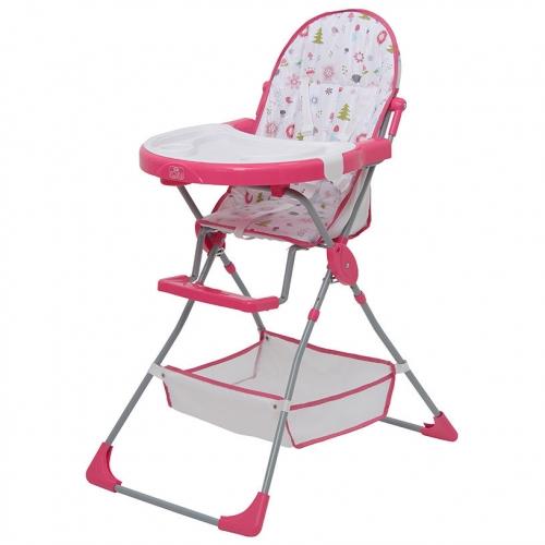 Стульчик для кормления Polini Kids 252 Лесные друзья Розовый