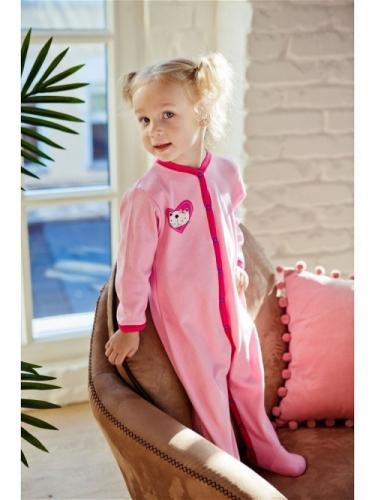 Комбинезон Lucky Child LOVE (арт. А6-101/розовый),размер 22 (68-74)