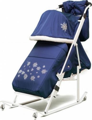 Cанки-коляска ABC Academy Арктика М цвет синий, черный