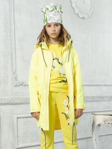 Ветровка для девочек, размер 7, желтая Pelican