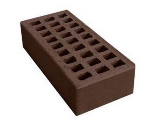 Кирпич лицевой керамический «Шоколад» пустотелый одинарный