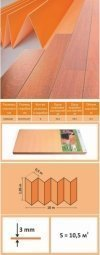 Подложка Solid Оранжевая 3 мм (1.05 м x 10 м)