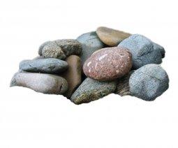 Камень для бани Атлант Камень Микс: Кварцит Дунит Талькохлорит в коробке 30 кг