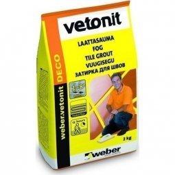 Затирка Weber.Vetonit Deco для швов до 8 мм серый №6 (2кг)