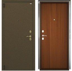 Стальная дверь Гардиан Фактор К медный антик/темный орех левая 2 замка  880x2050 мм