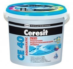 Затирка Ceresit СЕ 40 Aquastatic для швов до 10 мм эластичная водоотталкивающая противогрибковая голубой (2кг)