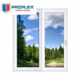 Окно раздвижное PROPLEX 2100x2000 двухстворчатое ПР800/ЛГ1200 1 стеклопакет