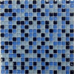 Мозаика Bonаparte Blue Drops голубая глянцевая 30x30