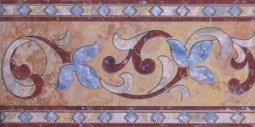 Бордюр Сокол Старый камень 431 пол орнамент глянцевый 16.5х33