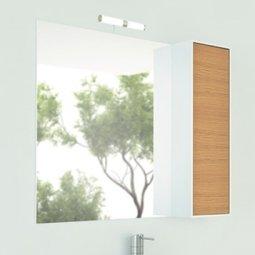 Шкаф-зеркало Comforty Терция-90 кофе полоска