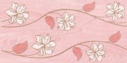 Декор Нефрит-керамика Суздаль 04-04-1-08-03-42-021-0 40x20 Розовый