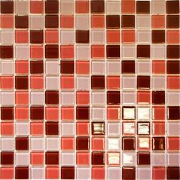 Мозаика Elada Crystal CB908 шоколадно-малиновая 32.7x32.7