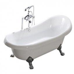 Ванна Faro Классик CLDS59 акриловая с ножками хром 150x78x81.5