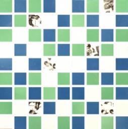 Мозаика Lasselsberger Фиорди бело-зелено-голубая 30х30