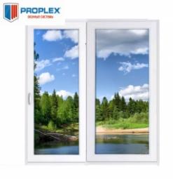 Окно раздвижное PROPLEX 2100x2000 двухстворчатое ЛР800/ПГ1200 1 стеклопакет