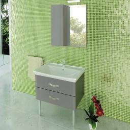 Зеркало-шкаф Comforty Рим-60 серый