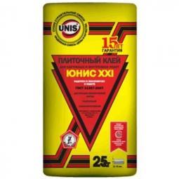 Клей Unis XXI плиточный для наружных и внутренних работ 25 кг