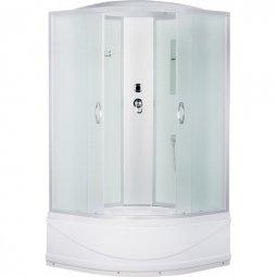 Душевая кабина Erlit Comfort ER3508TP-С3 800х800х2150 мм матовое, белое стекло