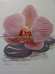 Панно Пиастрелла Бали Орхидея фиолетовая 40х30