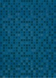 Плитка для стен Береза-керамика Квадро синий 25х35