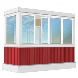 Остекление балкона ПВХ Rehau 3.2 м Г-образное