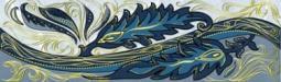 Бордюр Golden Tile Александрия голубой В13331 200х60