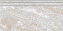 Ступени Kerranova Premium marble полированный светло-серый 29.4x60