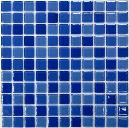 Мозаика Bonаparte Blue wave-1 синий глянцевая 30x30