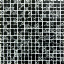 Мозаика Bonаparte Strike Black черная глянцевая 30x30