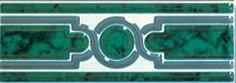 Бордюр Сокол Уральские самоцветы 340 орнамент глянцевый 7х20