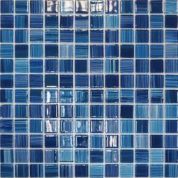 Мозаика Elada Crystal JSM-CH1025 лазурная полосатая 32.7x32.7