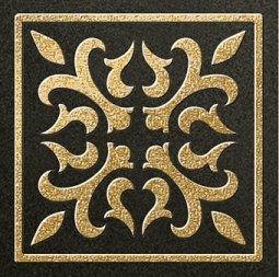 Декор Freelite Универсальные вставки для пола Палермо Черный шампань 6x6