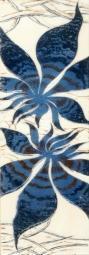 Бордюр Береза-керамика Магия фантазия Фриз синий 35х11.5