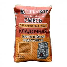 Кладочная смесь Терракот для наружных работ жаростойкая, 25 кг