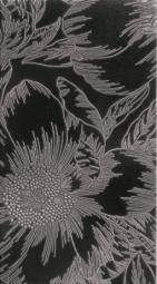 Декор Lasselsberger Готланд Орхидея черный 25х45