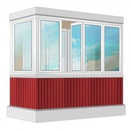 Остекление балкона ПВХ Veka с отделкой ПВХ-панелями без утепления 2.4 м Г-образное