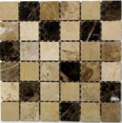 Мозаика Bonаparte Turin 48 коричневая полированная 30.5х30.5