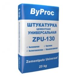 Штукатурка ByProc ZPU-130W универсальная цементная морозостойкая 25 кг