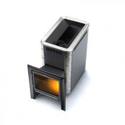 Печь для бани Термофор Тунгуска Inox Витра антрацит НВ дровяная