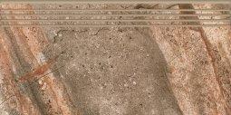 Ступени Kerranova Genesis полированный коричневый 29.4x60